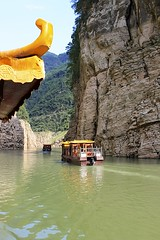 Goddess Stream (oxfordblues84) Tags: peoplesrepublicofchina china oat overseasadventuretravel yangtzerivercruise yangtzeriver goddessstream goddessstreamcruise victoriacruises victoriajennacruise victoriajenna threerivergorge gorge rivergorge cruise riverboatcruise rivercruise boat boats sampan watervessel vessel watercraft riverbank river water wushangoddesssceniczonecruise