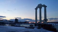 Winter sunset (Szasdi) Tags: lakelasalle universityatbuffalo buffalo sunset water cold snow blue lago atardecer bufalo newyork agua azul