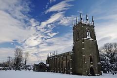 Church and sky (Sundornvic) Tags: snow church battlefield white black architecture stone masonry