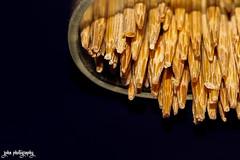 Regimented (shamahzoha) Tags: macro macromonday sticks wood wooden toothpicks texture closeup rough stack 7dwf