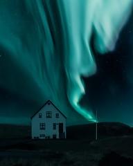 House (vaibhav.pandeys) Tags: nightscape landscape iceland2017 inspiredbyiceland travel iceland solarstorm solar lights nikond750 nikon nightphotography astronomy astrophotography nightsky auroraborealis northernlights polarlights northerlights aurora