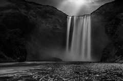 Into the black (Mika Laitinen) Tags: bw canon5dmarkiv europe iceland leefilters skógafoss skógar blackwhite cloud landscape longexposure mountain nature outdoors river rock sky water waterfall southernregion is