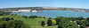 08 | view from Portchester castle (panorama) (Mark & Naomi Iliff) Tags: portchester castle roman remains panorama portsmouth harbour