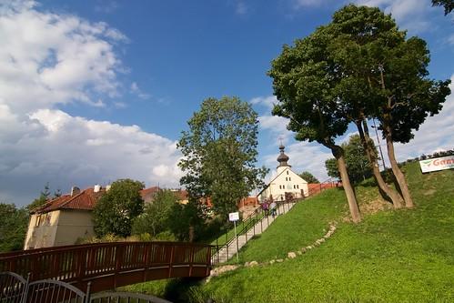 Mostek nad Symsarną i cerkiew św. Cyryla i Metodego w Lidzbarku Warmińskim
