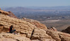 Overlooking Vegas (Wiley C) Tags: hikers cliff redrock lasvegas nevada scenic outlook october2017