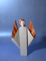 Ange 2017 (Viviane des Papiers) Tags: vivianeberty origami ange angel