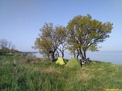 Утро и наше две палатки..