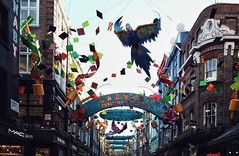London after Christmas (nadine_wilmanns) Tags: carnabystreet london christmaslights christmas christmasdecoration rainforest parrot colours city