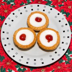 Day #3643 (cazphoto.co.uk) Tags: project365 beyond3288 211217 panasonic lumix dmcgx8 panasonic1235mmf28lumixgxvarioasphpowerois 2017th21 bakewelltarts cakes cherries edible plate foodanddrink
