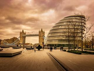 London - City Hall and Tower Bridge