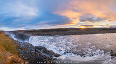 Dettifoss Panorama Sunrise (Mike Ver Sprill - Milky Way Mike) Tags: prometheus dettifoss iceland icelandic waterfall water fall falls travel north northern autumn sunrise sun clouds long exposure motion blur explore