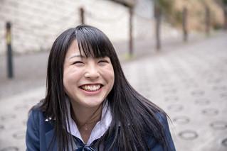 Highs school girl making full of smile