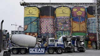 In 2010 Brazilian street artists Os Gemeos transformed this cement plant on Granville Island. 'The Giants' is true to its name and always gets good and sometimes curious reactions from those that encounter it.
