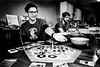 Friendsgiving (nateabrown) Tags: thanksgiving friends michigan puremichigan bw fire bonfire boardgames games contrast grain ilford analog black white craft minolta 400iso 3200iso