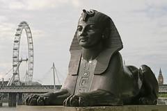 Eye of the Sphinx (chrisdingsdale) Tags: sphinx eye eyes relic head headdress ancient statue archaelogy hieroglypics writing egypt london britain egyptology ferriswheel ferris wheel landmark shadows