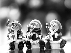 JOY (hoffler_pictorials) Tags: bokeh primelenses sony85mmf18 sonya6000 2017 love joy happiness fun ornaments decorations xmas stilllife figurines blackandwhite