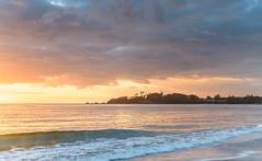 Sunrise Seascape (Merrillie) Tags: daybreak landscape nature southcoast mountains newsouthwales sea water sun batemansbay beach ocean nsw dawn waterscape coastal island scenery seascape sunrise coast clouds australia