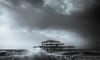Angry sea (Anthony White) Tags: brighton england unitedkingdom gb storm doris gale dramatic wind coast abandoned westpier naturaleza beautyinnature sky clouds nopeople blackandwhite bw