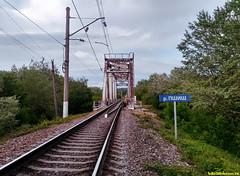 Железнодородный мост. Мы в поисках тропинки к реке.