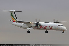 ET-AUZ   Bombardier Dash 8-Q400   Ethiopian Airlines (james.ronayne) Tags: etauz bombardier dash 8q400 ethiopian airlines aeroplane airplane plane aircraft aviation flying canon 80d 100400mm raw turboprop turbo airliner stansted stn eggs