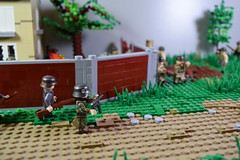 Advance into France, 1944 (♠York♠) Tags: lego ww2 world war 2 wwii moc minifigs minfig american german france 1944 house battle