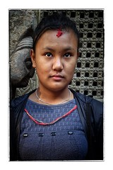 Nepali girl (posterboy2007) Tags: kathmandu nepal girl portrait street schoolgirl hindu nepali sony