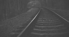 Train Kept Rollin (orbed) Tags: tracks mono trimpley minolta sony