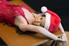 Of Corsets Christmas - Elena - Day 17 (edwicks_toybox) Tags: 16scale tbleague asian brunette corselet corset femaleactionfigure highheels phicen santahat seamlessbody stockings verycool