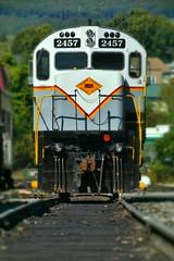Delaware Lackawanna Alco C425 (searchlight557) Tags: locomotive diesel delawarelackawanna alco train nikon transportation scranton steamtown compression railroad alcocentury frontend