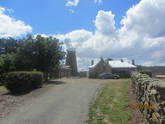 Callington Windmill, 1837, Oatlands, Tasmania (d.kevan) Tags: tasmania windmills buildings lanes australia oatlands trees walls stones houses clouds callingtonmill 1837
