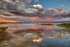 Mono Lake Sunset Rain Reflection (Jeffrey Sullivan) Tags: mono lake sunset rain storm reflection travel weather photography monolake monocounty eastern sierra lee vining california usa landscape nature canon 5dmarkiii photo copyright 2012 jeff sullivan september clouds pond grass scenic cokin filter