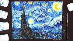 Starry Night Painting (Kitslams Art) Tags: starrynight vangoghpainting vangogh vincent expressionism expressionist painting paint art artist arts starry night classicart classics kitslamsart kitslam youtube youtuber