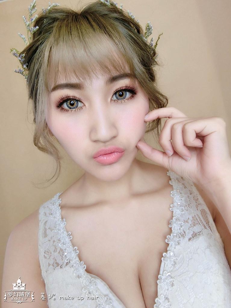 【新秘蓁妮】新娘造型創作 / 乾燥花盤髮造型