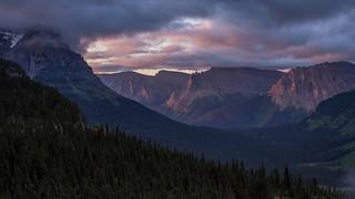Dawn Light Glacier National Park