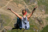 Yipee! I Made It....... (Karen Roe) Tags: snowdon mountain wales country 2017 may uk unitedkingdom gb greatbritain digital dslr camera canon canoneos760d 760d photograph photography image photo picture snap shot female photographer karenroe geotagged visit visitor tourist day climb steep