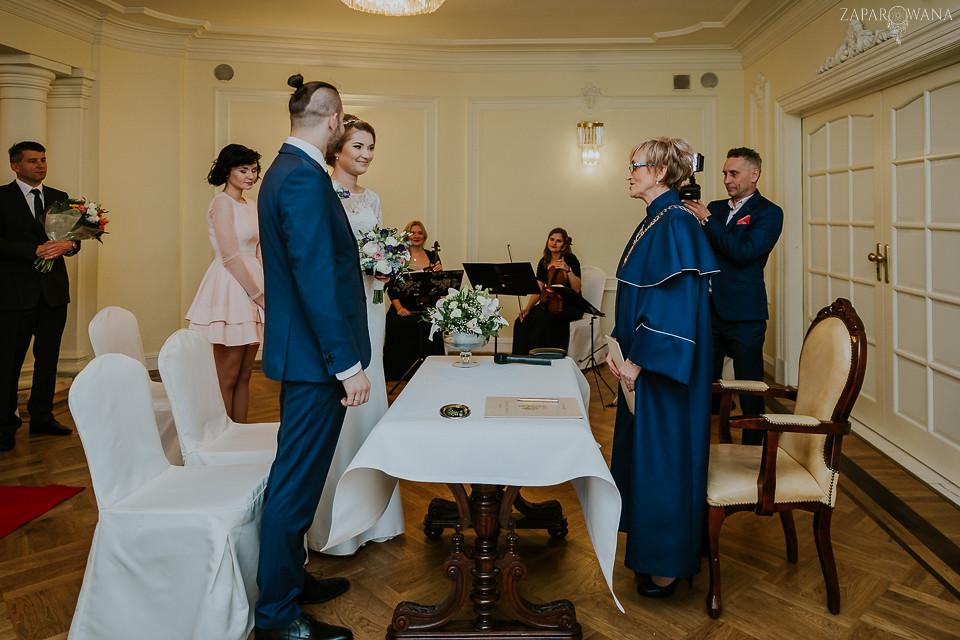 Agnieszka Piotr - Fotografia ślubna Warszawa - Pałacyk Otrębusy - ZAPAROWANA-064