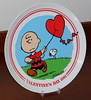 Vintage Peanuts 1981 Valentine's Day Plate By Charles Schulz, Titled Hearts-A-Flutter, Fifth In A Limited Edition Series, Produced By Schmid Brothers, Measures 7.5 Inches In Diameter, Made In Japan (France1978) Tags: 1981peanutsvalentinesdayplate vintagevalentinesplatewithcharliebrown valentinesday happyvalentinesday