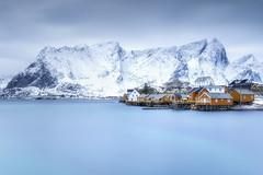 Lofoten Islands (Raúl Podadera Sanz) Tags: lofoten islands lofotenislands artic norway europe sea seascape landsacape cabins blue mountain longexposure