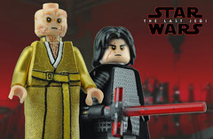 Darkness rises... (Brick Builder Watts) Tags: lego star wars the last jedi custom painted minifigures kylo ren ben solo adam driver supreme leader snoke andy serkis