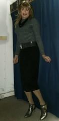 Pencil and Heels (Amber :-)) Tags: black pencil skirt tgirl transvestite cvrossdressing