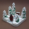 Snowy Cheese Trees (cmaddison) Tags: lego tree cheeseslope pine fir snow castle town landscape winter