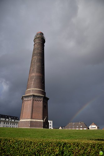 Lighthouse and a rainbow