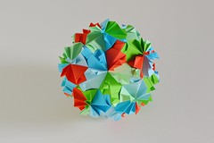 Aquileia Kusudama (Byriah Loper) (Byriah Loper) Tags: origami origamimodular modularorigami modular kusudama memo byriahloper byriah paperfolding paper polygon polyhedron pentagonal dodecahedron
