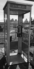 Remember When (PDX Bailey) Tags: telephone booth black white old fashioned remember when apple iphone