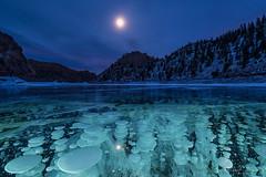 IMGP3909-Edit (Matt_Burt) Tags: bubbles green gunnisonrivercanyon ice moon night ocf