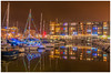 Portishead Marina at Xmas (tramsteer) Tags: tramsteer boats lights masts apartments reflections portishead marina somerset bristol costa coop
