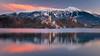 Lake Bled sunrise (Aljaž Vidmar   ADesign Studio) Tags: goldenhour sunrise winter stol nature reflection blejskiotok lake snow trees morning water pink purple island landscape bled slovenija blejskigrad church mountain