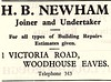 1956 ADVERT - H B NEWHAM JOINER AND UNDERTAKER 1 VICTORIA ROAD WOODHOUSE EAVES TELEPHONE 343 (Midlands Vehicle Photographer.) Tags: 1956 advert h b newham joiner and undertaker 1 victoria road woodhouse eaves telephone 343