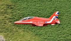 RAF Red Arrow (alanmoran91) Tags: nikond7200 d7200 nikon tamron tamron150600mm tamron150600 150600mm machloop lowlevelflying lowflying wales snowdonia hawk hawkt2 redarrows raf rafscampton redarrow jet