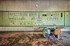 Sala di Distribuzione (in explore Januar 2018) (Knee Bee) Tags: controlroom telefon green grün verde centrale kontrollraum decay urbex